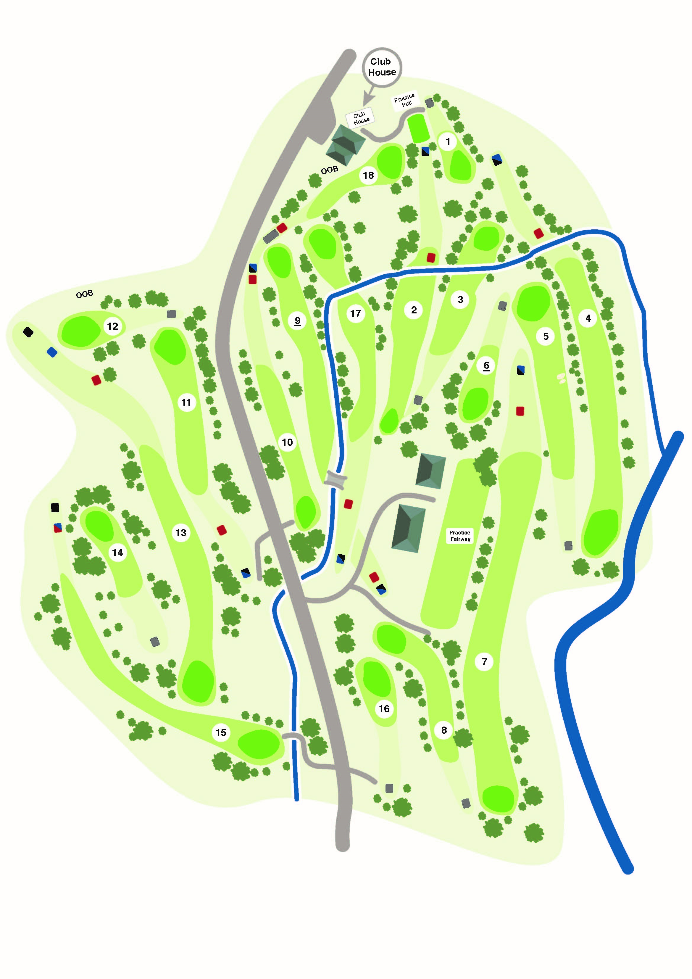Map of Axedale Golf Course